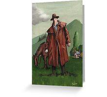 coat fella and his nag Greeting Card
