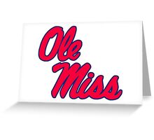 Ole Miss Greeting Card