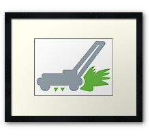 Lawnmower on the grass Framed Print