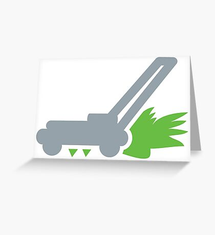 Lawnmower on the grass Greeting Card