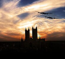 Lancs Over The Cathedral  by J Biggadike