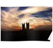 Lancs Over The Cathedral  Poster