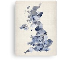 Great Britain UK Watercolor Map Canvas Print