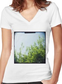 Reach for the sky Women's Fitted V-Neck T-Shirt