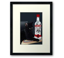 ITS MY PARTY AND I'LL CRY IF I WANT TOO.CRY IF I WANT TOO..U WOULD CRY TOO IF IT HAPPENED TO U....CUTE FELINE BOTTLE AND TOY PICTURE AND OR CARD ECT.. Framed Print