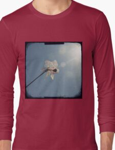 Windmill in a blue sky Long Sleeve T-Shirt