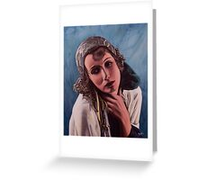 Oil on canvas - Greta Garbo Greeting Card