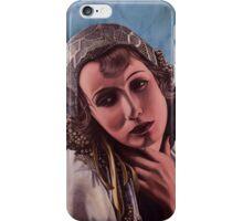 Oil on canvas - Greta Garbo iPhone Case/Skin