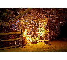 The Scene of Christmas Lights... a work needing some organization.... Photographic Print