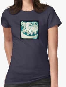 Silver christmas stars Womens Fitted T-Shirt