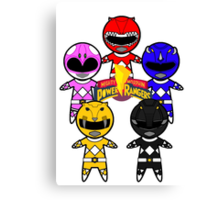 GO GO POWER RANGERS! Canvas Print