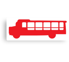 Single RED Bus Canvas Print