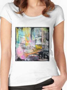 New York Times Square and Taxi Series #95 Women's Fitted Scoop T-Shirt