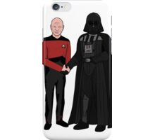 Picard and Vader - Shaking Hands - Can't We All Just Get Along? iPhone Case/Skin