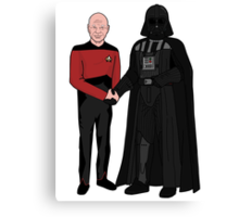 Picard and Vader - Shaking Hands - Can't We All Just Get Along? Canvas Print