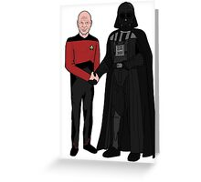Picard and Vader - Shaking Hands - Can't We All Just Get Along? Greeting Card