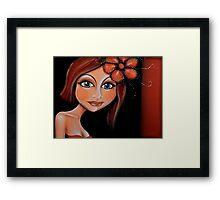 Brunette Beautiful Lady Framed Print