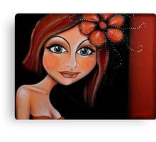 Brunette Beautiful Lady Canvas Print
