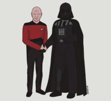 Picard and Vader - Shaking Hands - Can't We All Just Get Along? by HelloGreedo