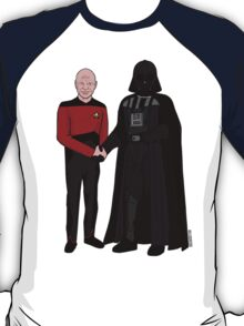 Picard and Vader - Shaking Hands - Can't We All Just Get Along? T-Shirt