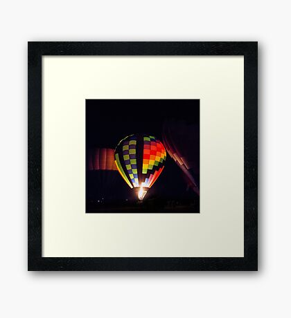 Glowing Balloon Framed Print