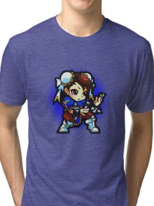 Puzzle Spirit: Chun-li Tri-blend T-Shirt