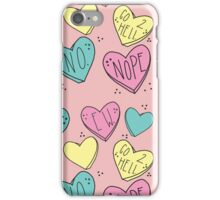 Bitter Candy Hearts iPhone Case/Skin
