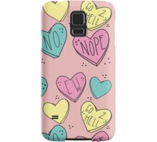 Bitter Candy Hearts Samsung Galaxy Case/Skin