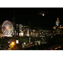 Edinburgh at Christmas and New year Photographic Print