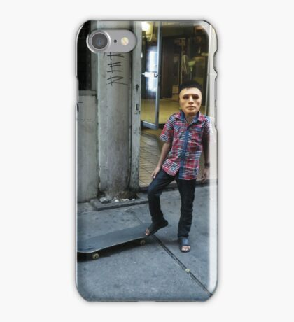 Masked Skater Kid - Bangkok, Thailand iPhone Case/Skin