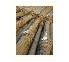 Natural History Museum London, stone columns/pillars Art Print