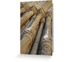 Natural History Museum London, stone columns/pillars Greeting Card