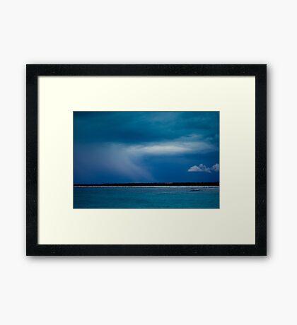 Blue Storm Framed Print
