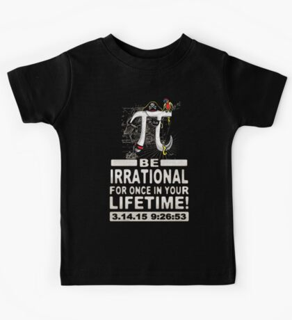 Irrational Pi Day Pirate Kids Tee