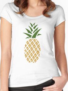 Pineapple (one) Women's Fitted Scoop T-Shirt