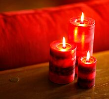 Three Red Candles by MaupinPhoto