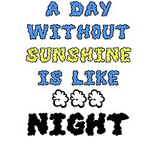 A Day Without Sunshine Is Like...Night Photographic Print