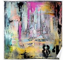 New York Times Square and Taxi Series #84 Poster