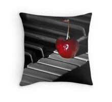 Lone Cherry Throw Pillow