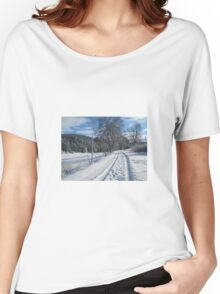 Winter scene Women's Relaxed Fit T-Shirt