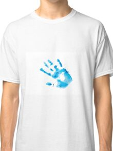 Watercolor hand print Classic T-Shirt