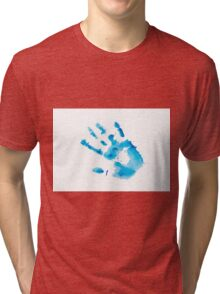 Watercolor hand print Tri-blend T-Shirt
