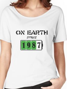 On Earth Since 1987 Women's Relaxed Fit T-Shirt