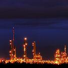 Industrial Park in Twilight by John Kroetch
