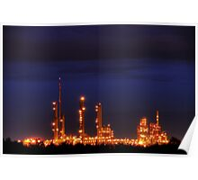 Industrial Park in Twilight Poster