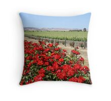 Winery Roses Throw Pillow