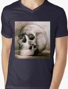 Hand drawing scull Mens V-Neck T-Shirt