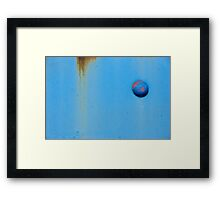 Button Blue Framed Print