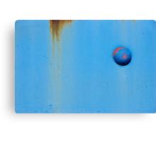 Button Blue Canvas Print