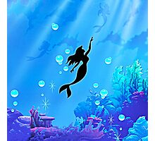 Mermaid Blue Sea Photographic Print